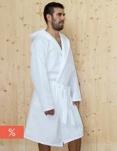 Waffle Bathrobe Hooded / Men