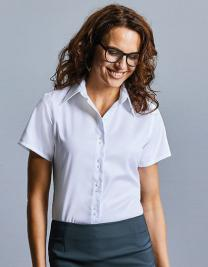 Ladies` Short Sleeve Tailored Ultimate Non-Iron Shirt